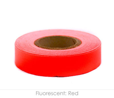 Fl. Red Naming Tape, 14yd Roll