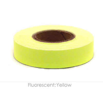 "0.5"" Removable Fluorescent Yellow Labeling Tape"