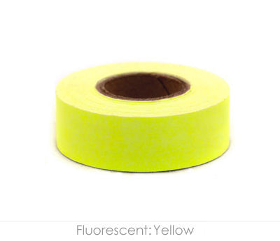 "0.75"" Removable Fluorescent Yellow Labeling Tape"