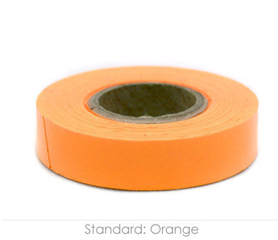 "0.5"" Removable Orange Labeling Tape"