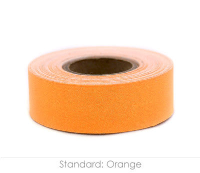 "0.75"" Removable Orange Labeling Tape"