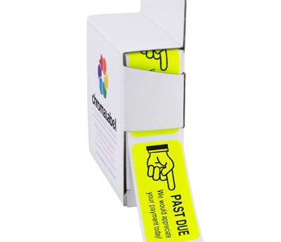 "1"" x 2.25"" Fluorescent Yellow Collection Labels"