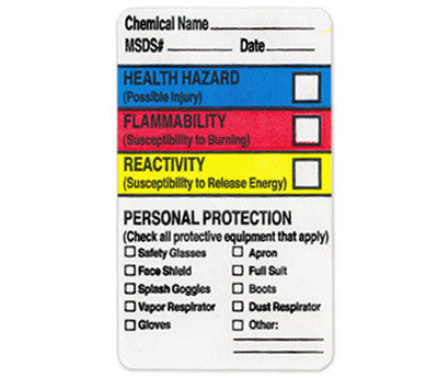 PPE Checkbox HMIG Labels: Write-In, 1.5