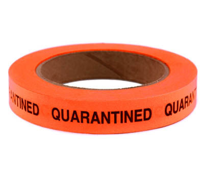 QUARANTINED - Imprinted 3/4 Tape