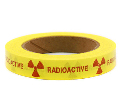 """""""RADIOACTIVE"""" - Imprinted 3/4"""" Tape: 48 Roll Case"""