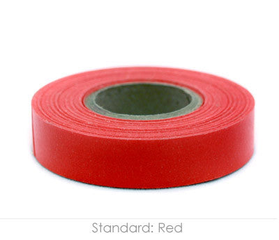 "0.5"" Removable Red Labeling Tape"
