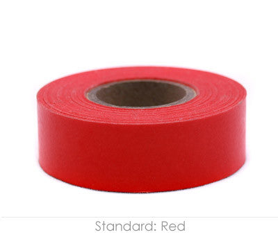 "0.75"" Removable Red Labeling Tape"