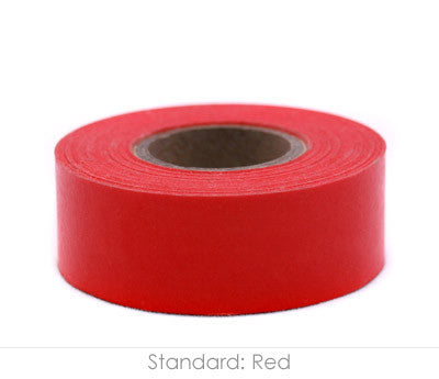 "1"" Removable Red Labeling Tape"