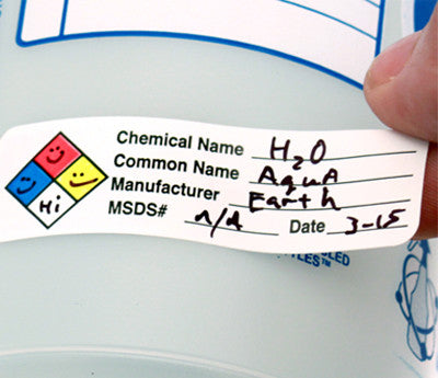 Writing on HMIG Label