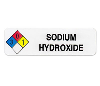 Sodium Hydroxide Imprinted Label