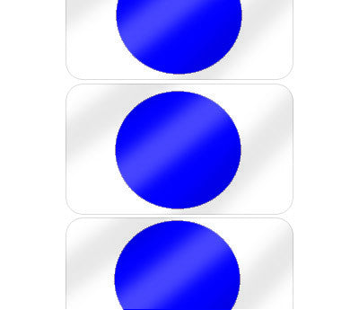 "5/8"" Dark Blue Pre-Laminated Dot Labels"
