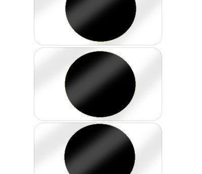 "5/8"" Black Pre-Laminated Dot Labels"