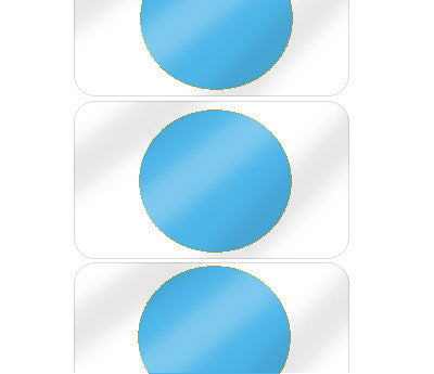 "5/8"" Blue Pre-Laminated Dot Labels"