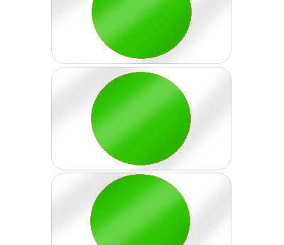 "5/8"" Green Pre-Laminated Dot Labels"