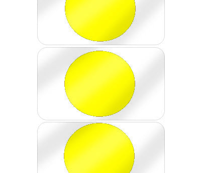 "5/8"" Yellow Pre-Laminated Dot Labels"