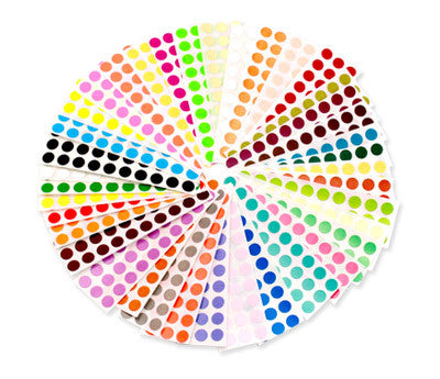 "0.25"" Color Code Dots Kit"