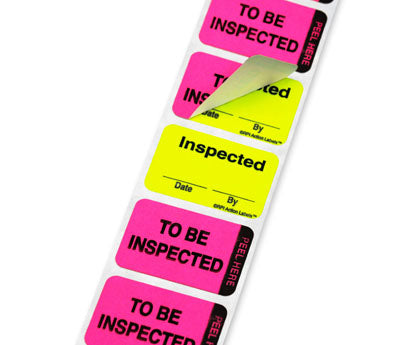 """To Be Inspected/ Inspected"" Double-Layer Action Labels  ..."