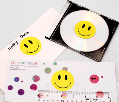 "2"" Yellow Happy Face Stickers"