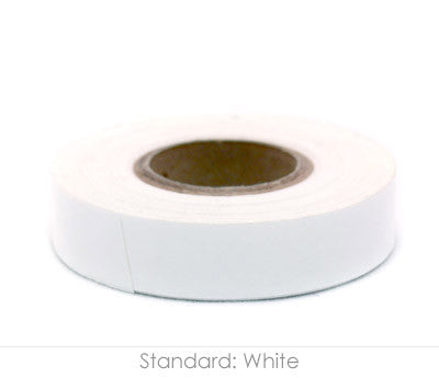 "0.5"" Removable White Labeling Tape"