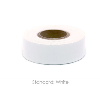 "0.75"" Removable White Labeling Tape"