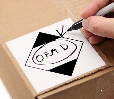 photo relating to Orm-d Label Printable named ORM-D Security Labels: 4\