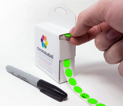 "0.5"" Writable Color Coding Stickers"