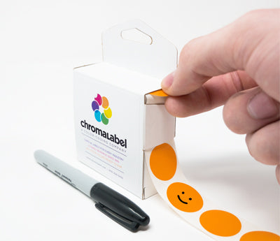 "1"" Writable Dot Stickers"