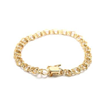 Ladies Traditional Double Link Bracelet 6mm