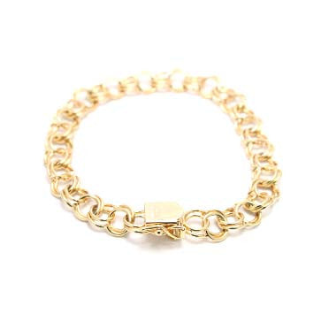 Ladies Traditional Double Link Bracelet 8mm