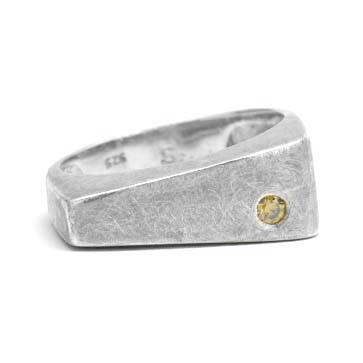 Ladies Geometric Silver Ring