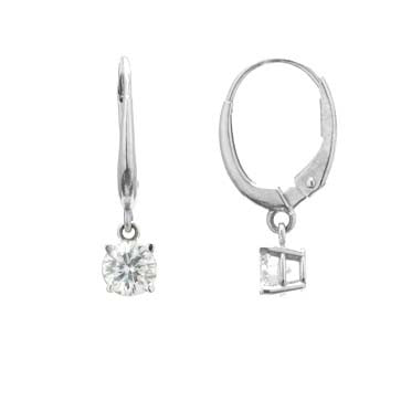 Ladies Dangle Diamond Earrings