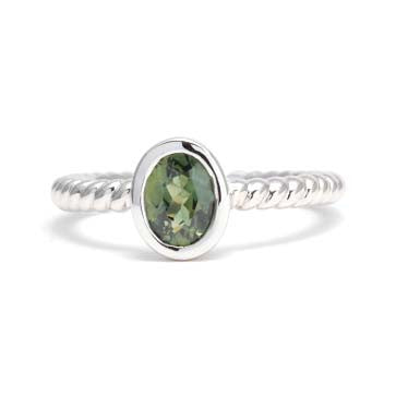 Ladies Green Sapphire Ring