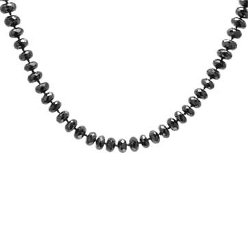 Ladies Black Spinel Necklace