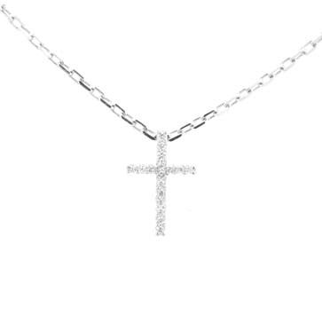 Ladies Petite Diamond Cross Pendant