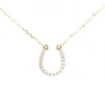 Ladies Diamond Horseshoe Pendant