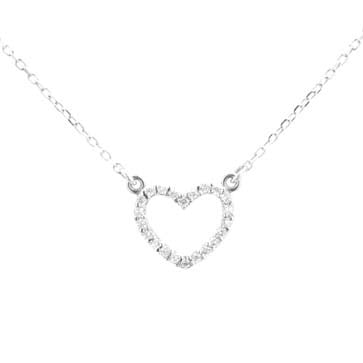 Ladies Diamond Heart Pendant