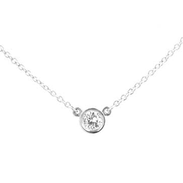 Ladies Bezel-Set Diamond Necklace