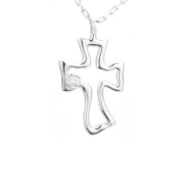 Ladies Silver Cross Pendant