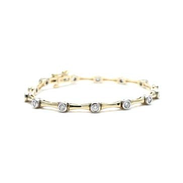 Ladies Yellow Gold Diamond Bracelet