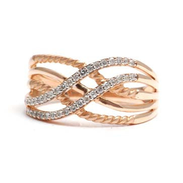 Ladies Twisted Diamond Ring