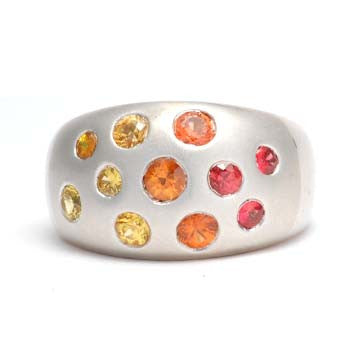 Ladies Multi-Colored Gemstone Ring