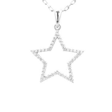 Ladies Diamond Star Pendant
