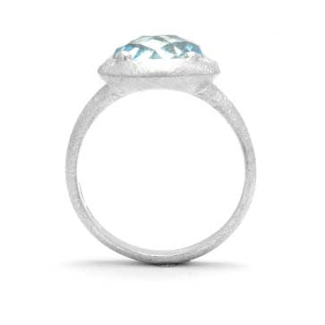 Ladies Blue Topaz Solitaire Ring