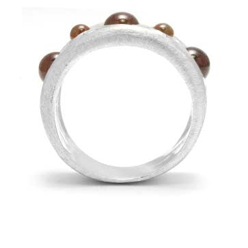 Ladies Citrine Circle Ring