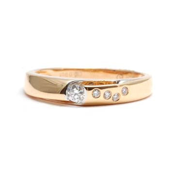Ladies Rose Gold Diamond Ring