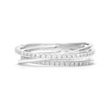 Ladies Crisscross Diamond Ring