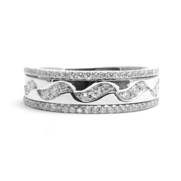 Ladies Diamond Wave Ring