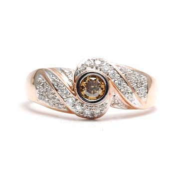 Ladies Mocha Diamond Ring