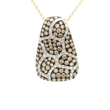 Ladies Champagne Diamond Pendant