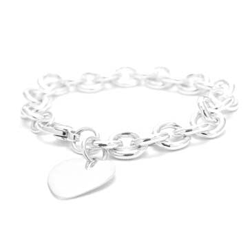 Ladies Heart Charm Bracelet